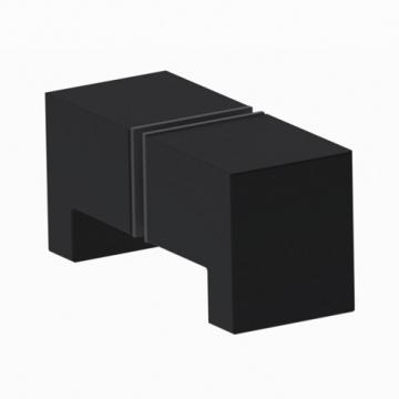 Douchedeurknop-vierkant-zwart